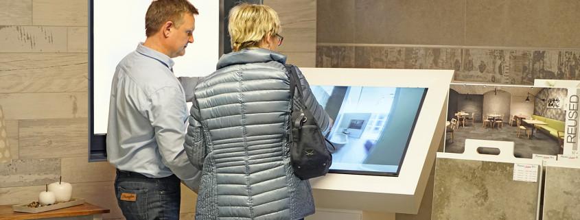 Testen Sie den Fliesen-Simulator live vor Ort in unserer Ausstellung
